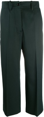 MM6 MAISON MARGIELA Wide-Leg Cropped Trousers