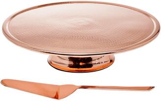 Godinger Copper Finish Cake Stand/Server