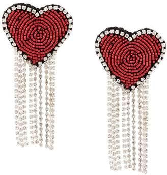 Venessa Arizaga Love Heart clip-on earrings