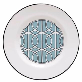 O.W. London Loop Duck Egg & White Teaplate Inner Design