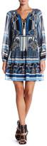 Hale Bob Long Sleeve Drop Waist Dress