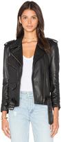Understated Leather x REVOLVE Scrunch Sleeve MC Jacket