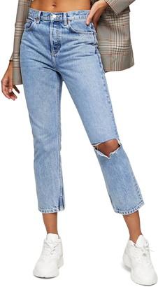 Topshop Chicago Crop Slim Straight Jeans