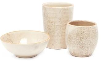 Brunello Cucinelli Ceramic Bowl And Tumbler Set - Cream