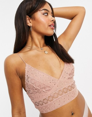 Free People Carina bralet in mango