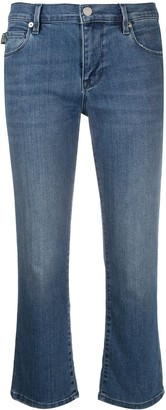Love Moschino Cropped Flare Trousers