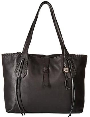 The Sak Heritage Leather Tote (Black) Tote Handbags