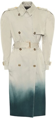Versace Ombre cotton trench coat