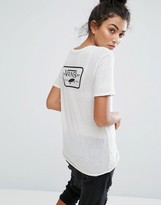 Vans Patch Logo T-Shirt In Off White