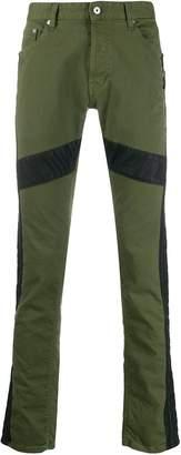 Just Cavalli panelled slim-fit jeans
