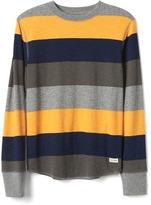 Gap Bright stripes waffle-knit tee