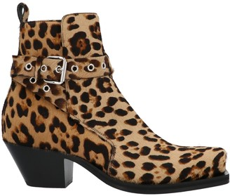 Versace Animal Print Ankle Boots