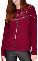 Miss Selfridge Cutwork Crewneck Sweater
