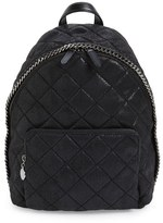 Stella McCartney 'Mini Falabella' Faux Leather Quilted Backpack - Black