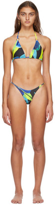Louisa Ballou SSENSE Exclusive Blue Mini Ring Bikini