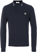 Stone Island long-sleeved classic polo shirt