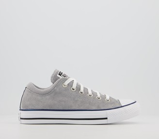 Converse Ox Padded Collar Trainers Dolphin White Navy Exclusive