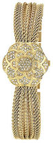 Anne Klein Ladies Gold Flower Covered Dial Watch