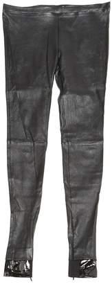 Balenciaga Black Leather Trousers