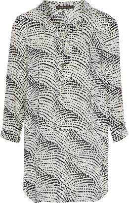 Vix Paula Hermanny Ellie Lace-up Printed Gauze Tunic