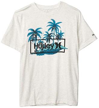 Hurley Short Sleeve Graphic T-Shirt (Big Kids) (Birch Heather) Boy's Clothing