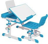 Barton Kids Desk Interactive Work Station, Height Adjustable Lead-Free (blue)