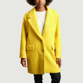 American Vintage Yellow Wool and Polyester Pamilia Coat - xs | yellow | Wool and Polyester - Yellow/Yellow