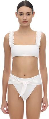 WeWoreWhat Como Ruffled Bikini Top