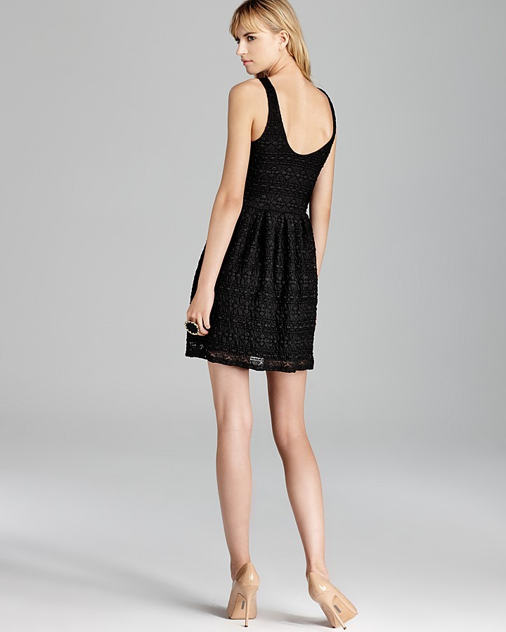 Aqua Dress - Diamond Pucker Lace