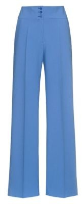 HUGO BOSS Wide-leg trousers with high-rise buttoned waist