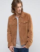Asos Suede Western Jacket in Tan