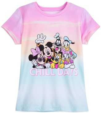 Disney Mickey Mouse and Friends Dip Dye T-Shirt for Girls