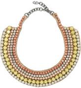 Valentino Silver-Tone Beaded Necklace