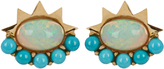 Ileana Makri Opal, turquoise & yellow-gold earrings