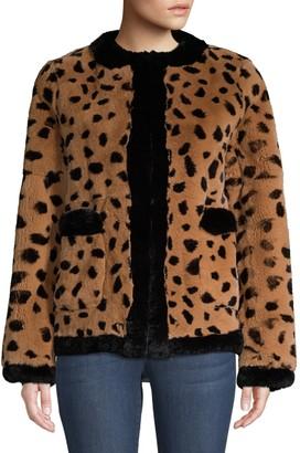 Pologeorgis Leopard-Print Rabbit Fur Coat