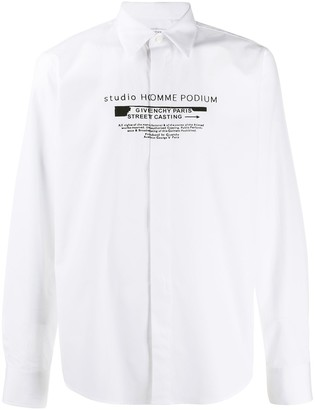 Givenchy Printed Slogan Poplin Shirt