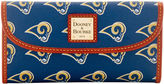 Dooney & Bourke NFL Rams Continental Clutch