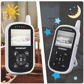 Video Baby Monitor,UU Infant Night Vision Camera Temperature Monitor with Alarm,Night Light,2 Way Talkback Audio[Baby Car Mirror Included]