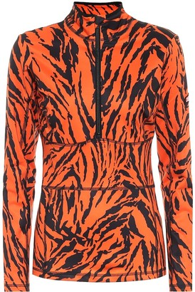 Jet Set Tiger-print soft-shell jacket