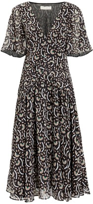 Stevie May Anise Kabuki Crepe Floral Dress