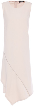 DKNY Asymmetric Zip-detailed Crepe-jersey Dress