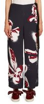 Cédric Charlier Orchid Printed Pants