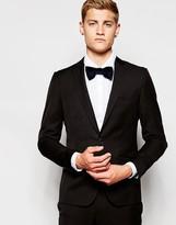 French Connection Plain Slim Fit Mohair Suit Jacket - Black