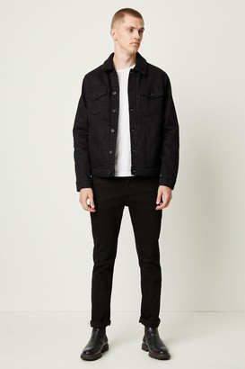 French Connenction Soft Black Denim Jacket