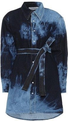 Matthew Adams Dolan Tie-dye denim shirt dress