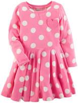 Carter's Long Sleeve Fit & Flare Dress - Toddler Girls