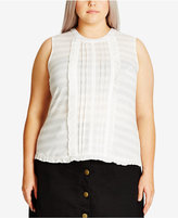 City Chic Trendy Plus Size Lace Ruffle Top