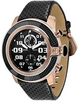 Glam Rock Men's GR33105 SoBe Chronograph Black Dial Black Leather Watch