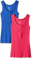 Felina Women's Button Tank 2 Pack