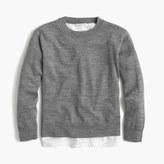 J.Crew Girls merino wool popover sweater